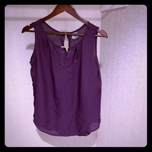 2 for $10 Sheer Purple Dress top size M